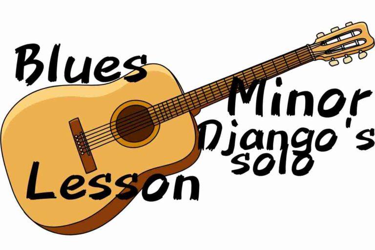Blues minor ジャンゴラインハルトのソロ