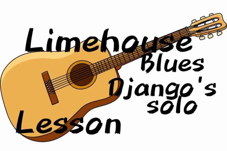 Limehouse blues ジャンゴラインハルトのソロ